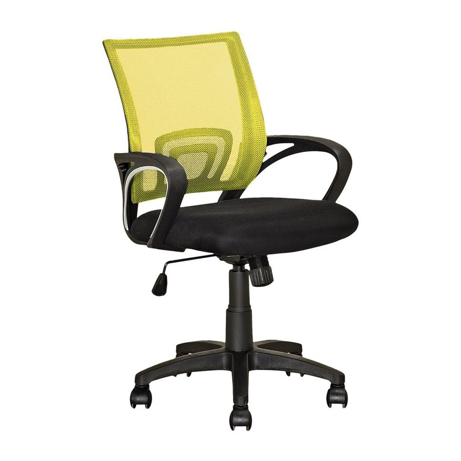 CorLiving Workspace Yellow/Black Contemporary Desk Chair