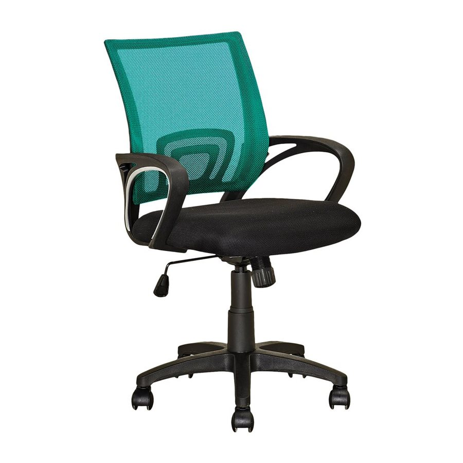 CorLiving Workspace Teal/Black Contemporary Desk Chair