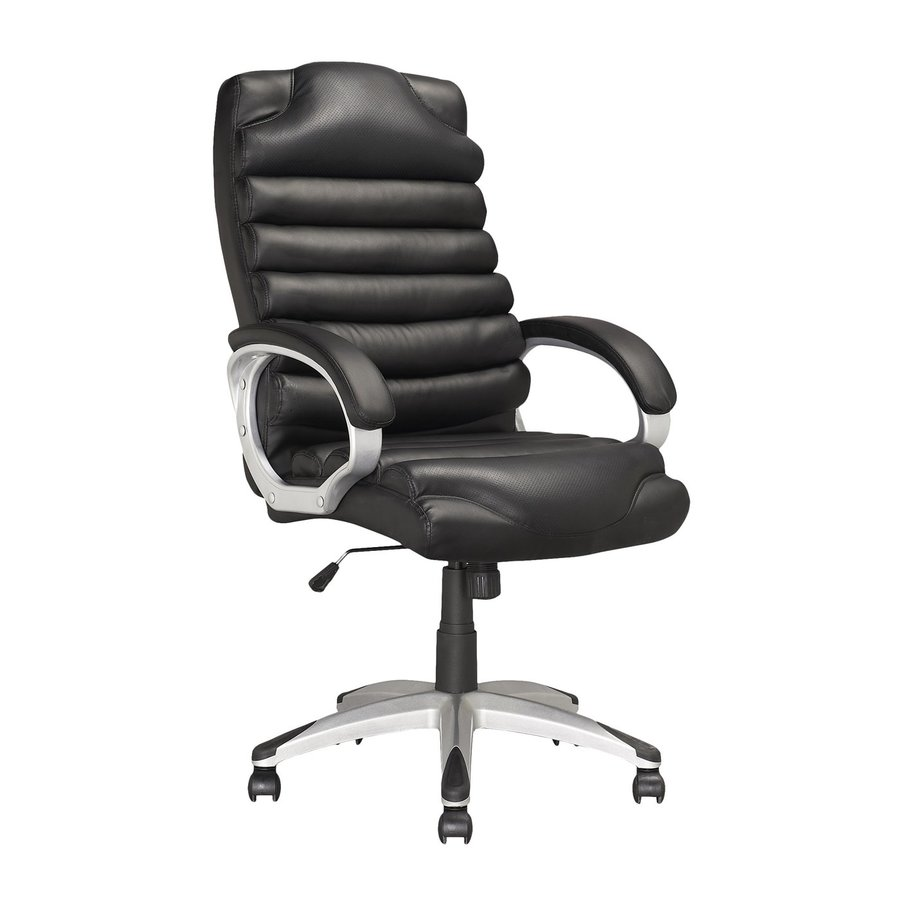 CorLiving Workspace Black Contemporary Executive Chair