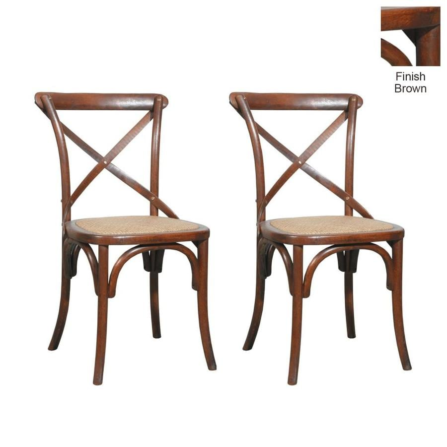 Furniture Classics Set of 2 Bentwood Tan Side Chair