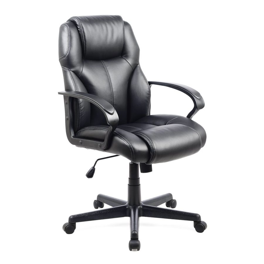 CorLiving Black Contemporary Manager Chair