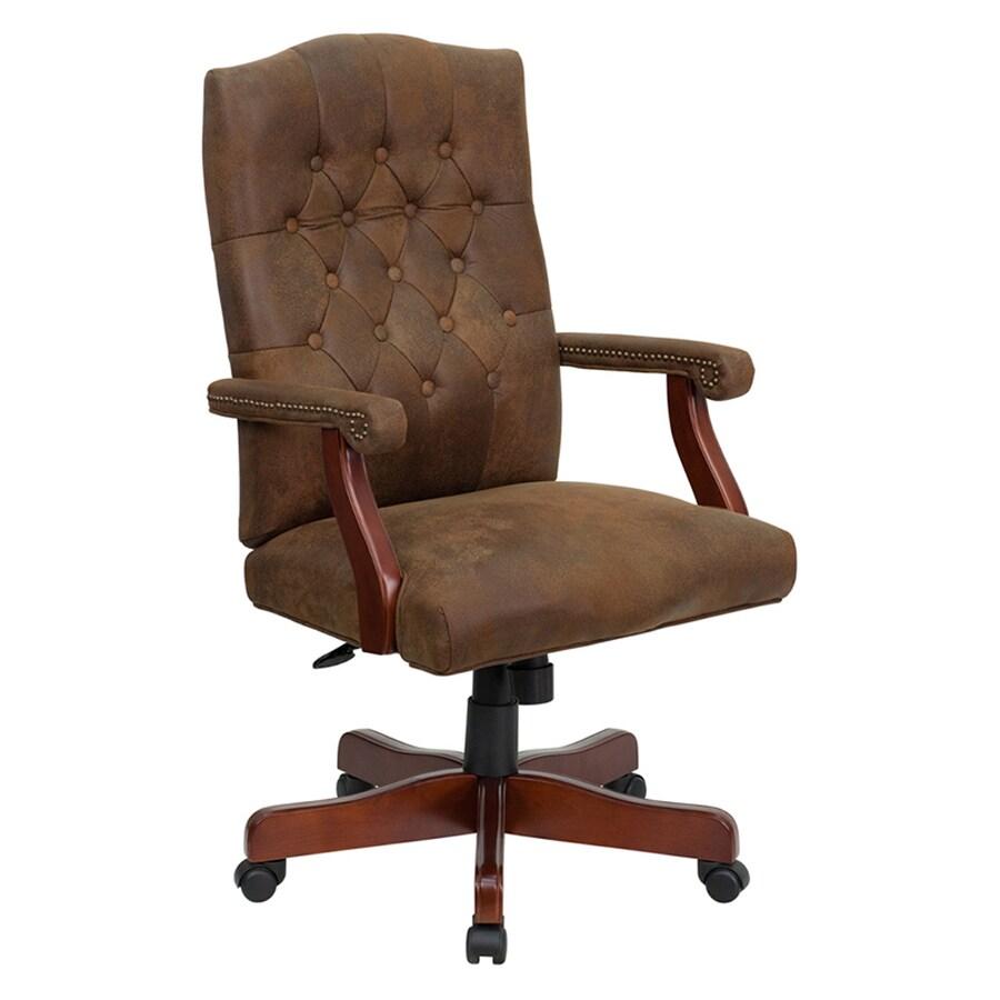 Flash Furniture Rustic Brown/Mahogany Traditional Executive Chair