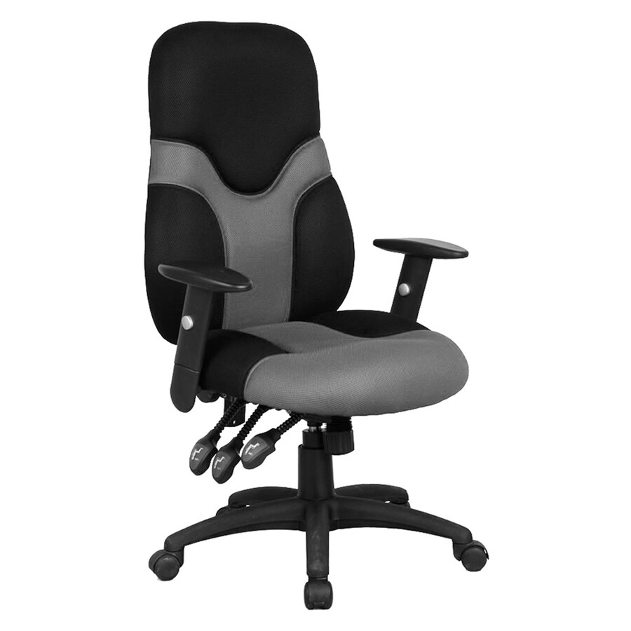 Flash Furniture Black/Gray Contemporary Manager Chair