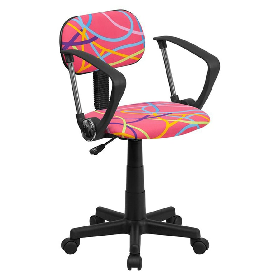Flash Furniture Multi-color Swirl Contemporary Task Chair