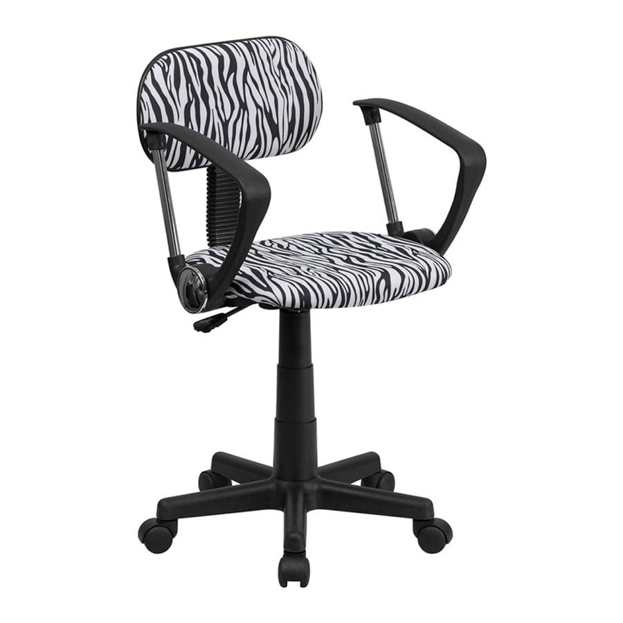 Flash Furniture Black/White Zebra Print Contemporary Task Chair