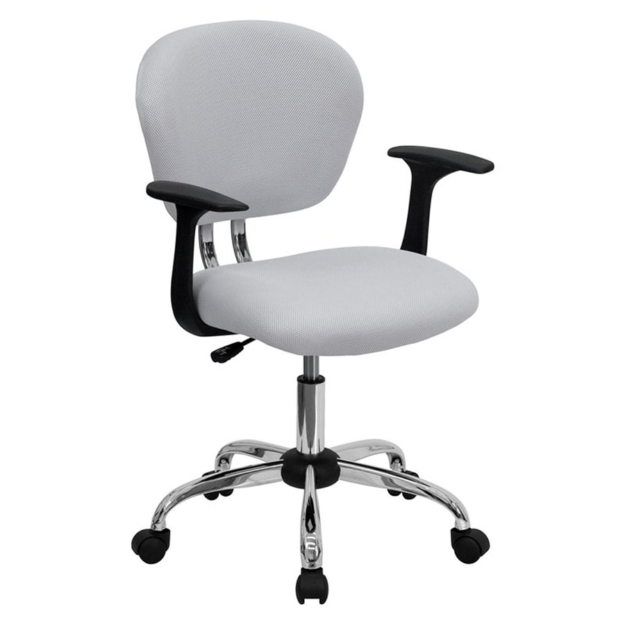 Flash Furniture White Contemporary Task Chair