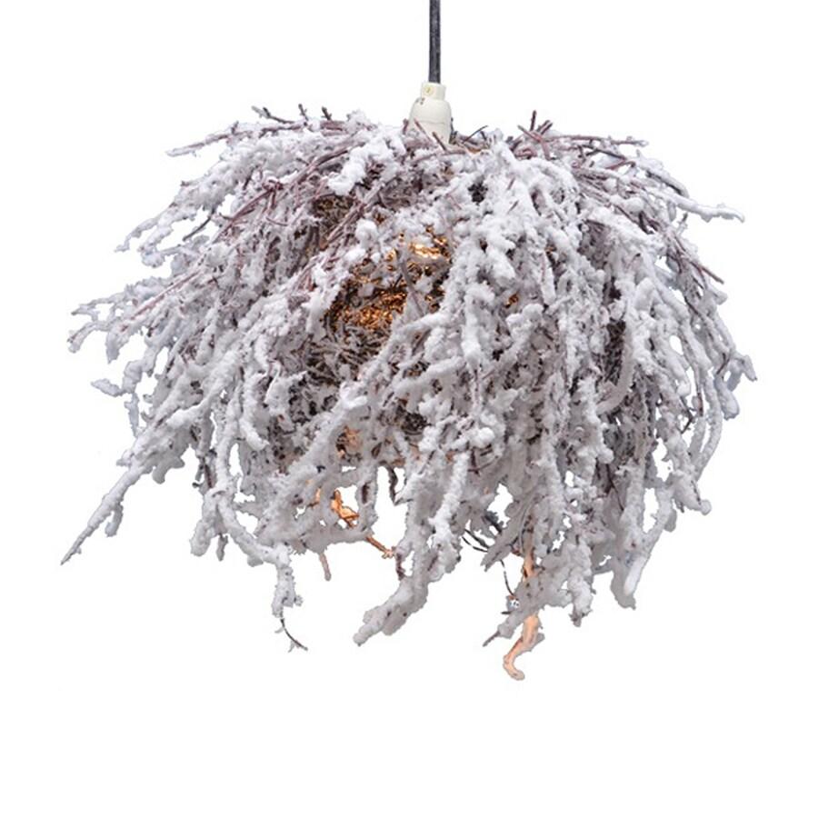 Fantastic Craft Pre-Lit Snow Flocked Lamp White LED Lights