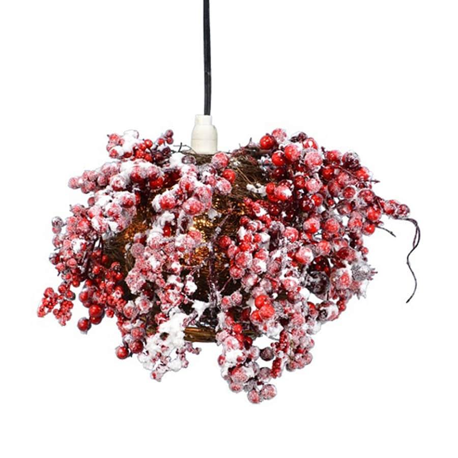 Fantastic Craft Pre-Lit Berry Lamp White LED Lights