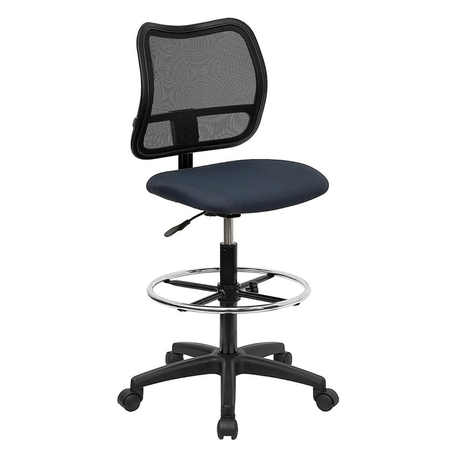 Flash Furniture Navy Blue/Black Contemporary Drafting Chair