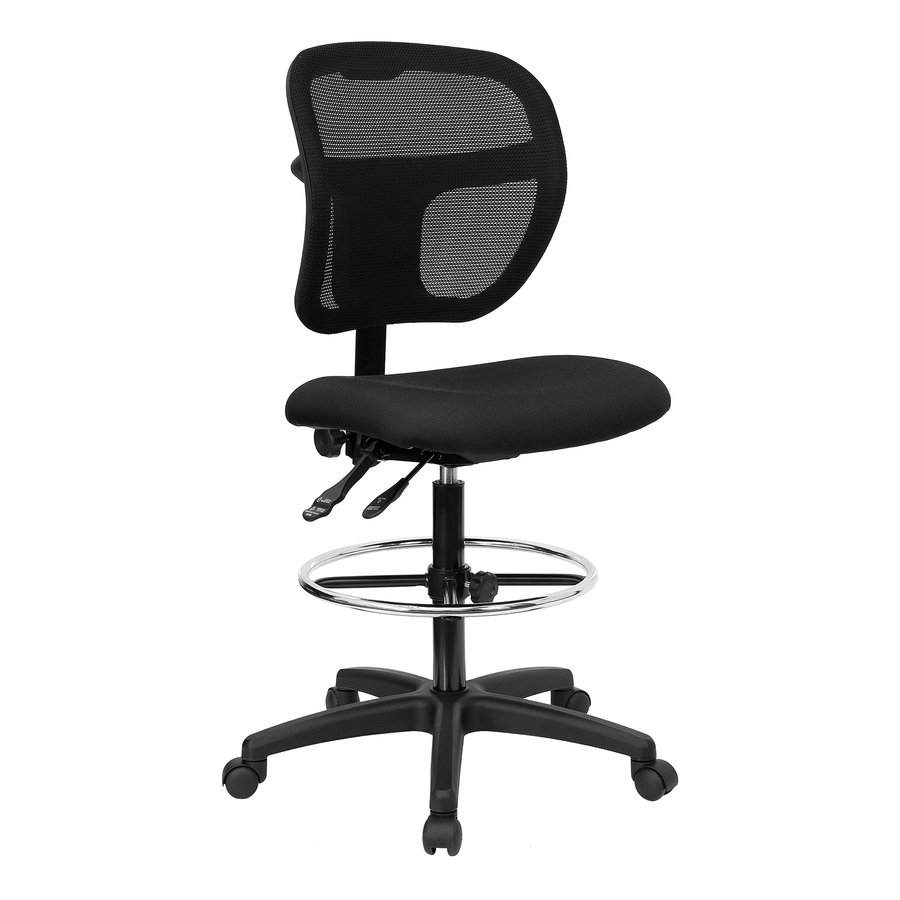 Flash Furniture Black Contemporary Drafting Chair