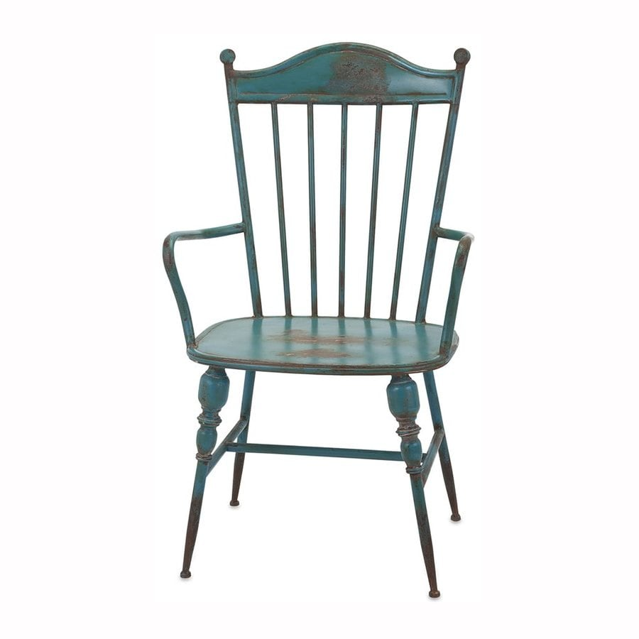 Imax Worldwide Westfield Traditional Teal Arm Chair