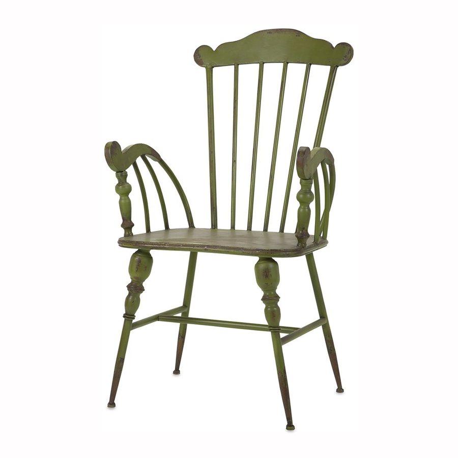 Imax Worldwide Trenton Traditional Green Arm Chair