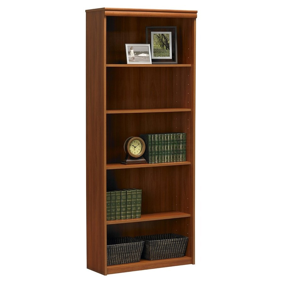 shop ameriwood home expert plum 5 shelf bookcase at lowes 88166