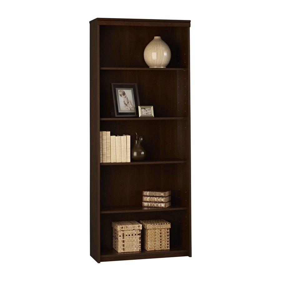 Ameriwood Home Resort Cherry 5-Shelf Bookcase