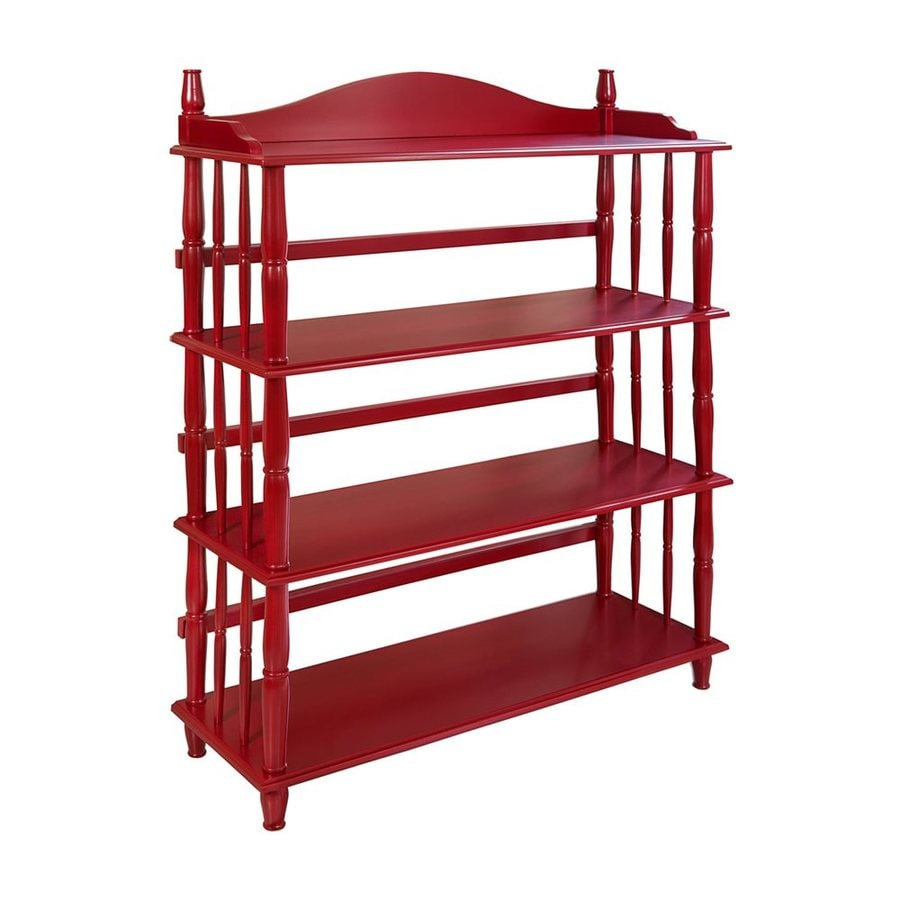 Ameriwood Home Red 4-Shelf Bookcase