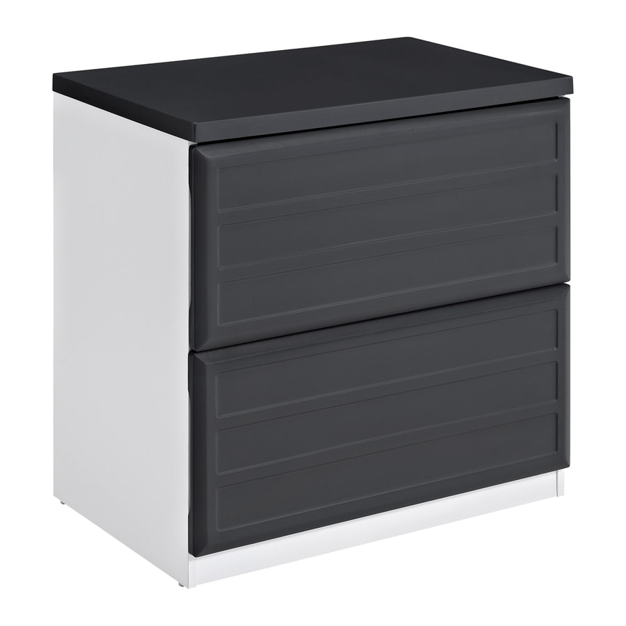 Ameriwood Home Pursuit White/Gray 2-Drawer File Cabinet