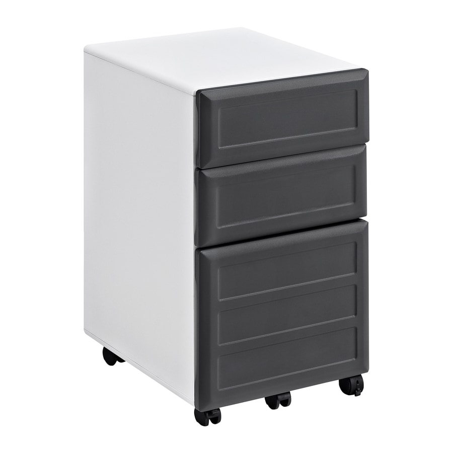 Ameriwood Home Pursuit White/Gray 3-Drawer File Cabinet