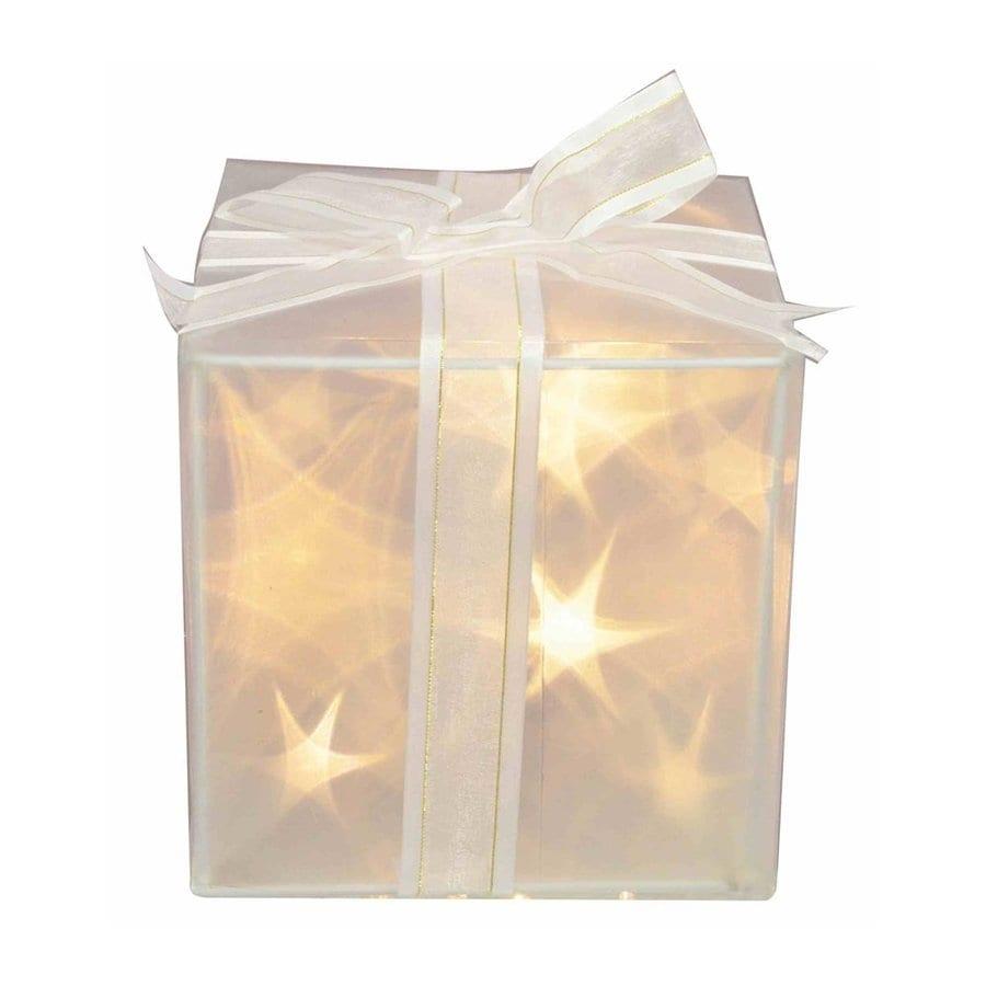 Fantastic Craft Pre-Lit Gift-Box Lamp White LED Lights