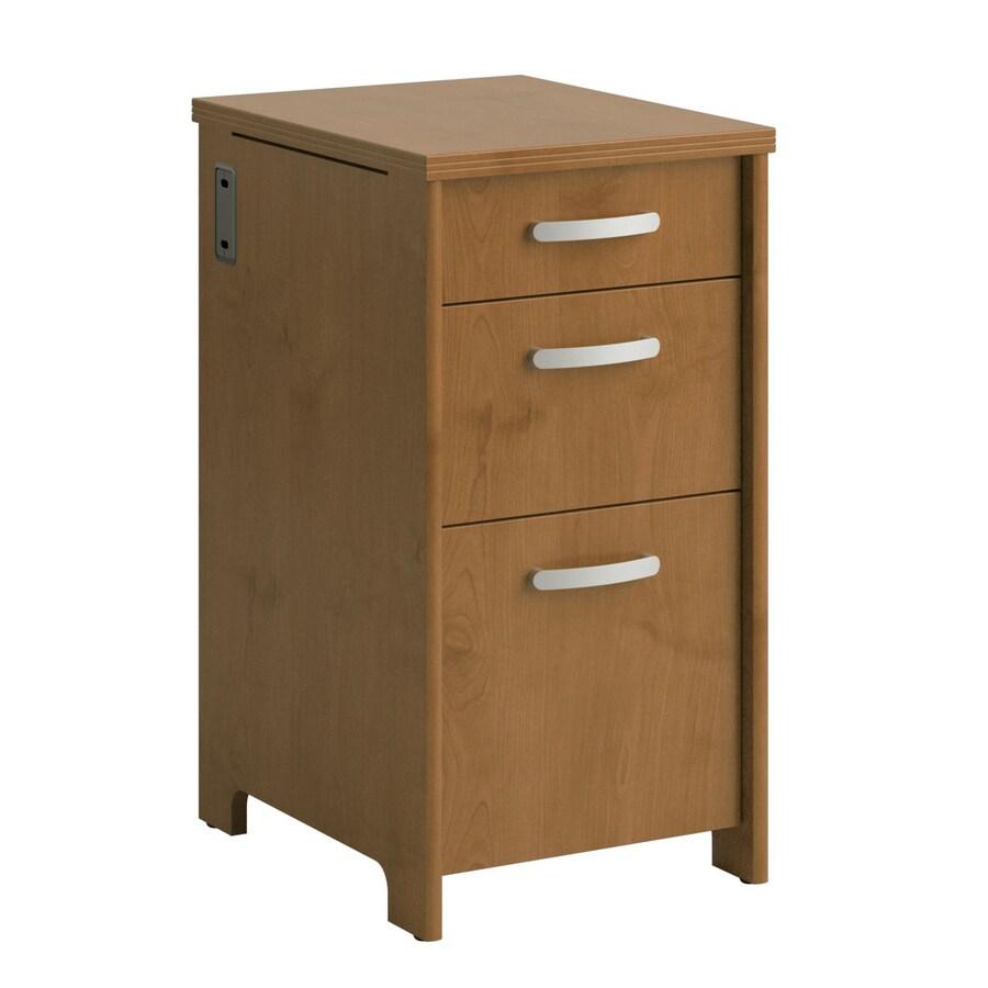 Bush Furniture Envoy Natural Cherry 3-Drawer File Cabinet
