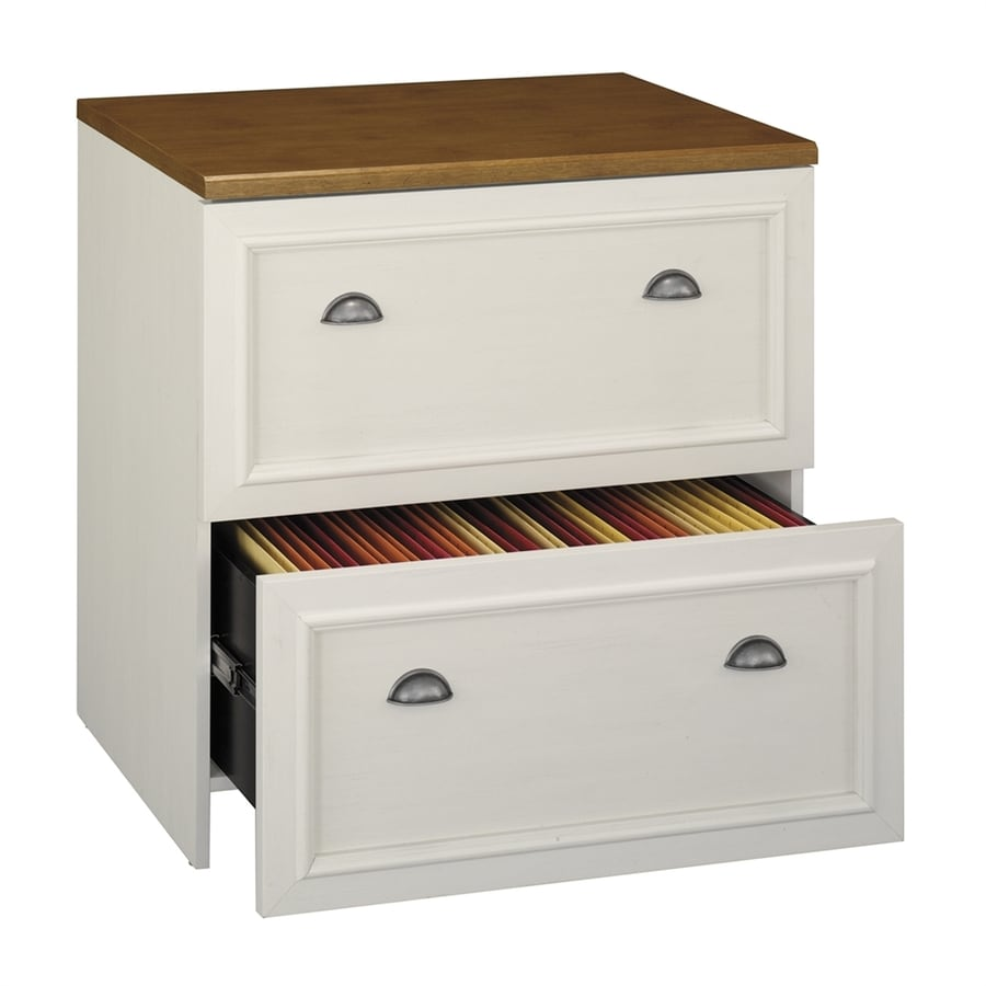 Bush Furniture Fairview Antique White 2 Drawer File Cabinet