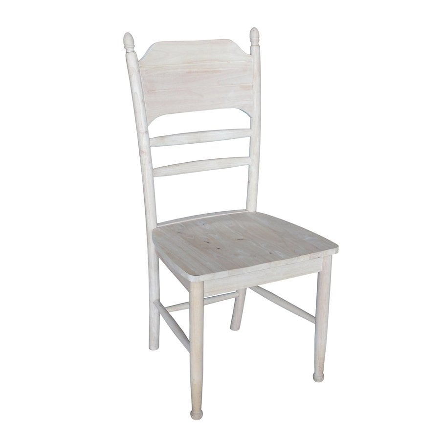 International Concepts Set of 2 Bridgeport Traditional Unfinished Side Chair