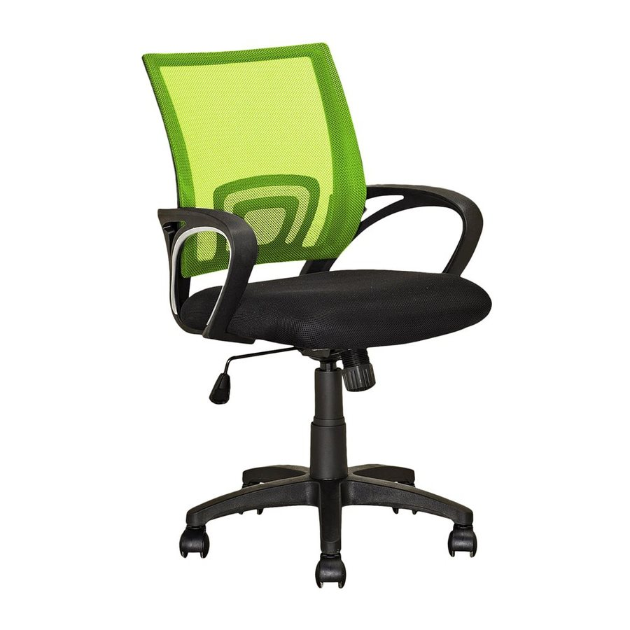 Corliving Worke Lime Green Black Contemporary Desk Chair