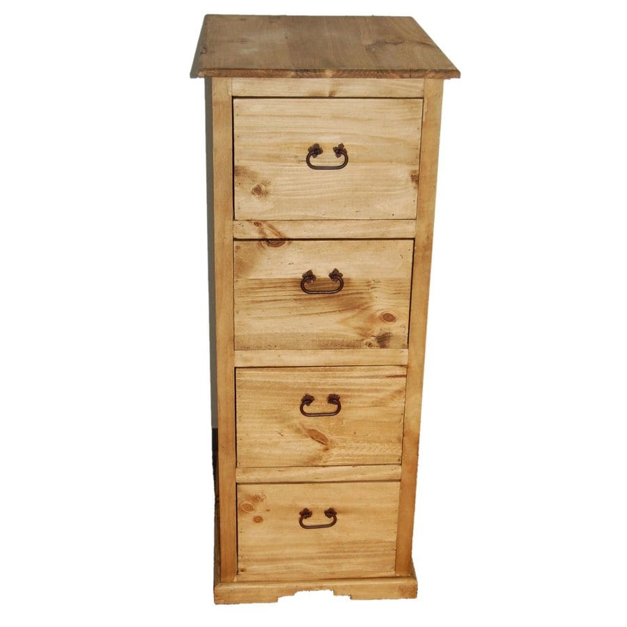 Million Dollar Rustic Rustic 4-Drawer File Cabinet