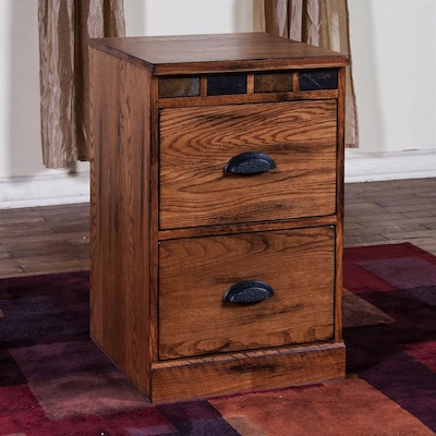 official photos 9432b e3cfb Sunny Designs Sedona Rustic oak 2-Drawer File Cabinet at ...