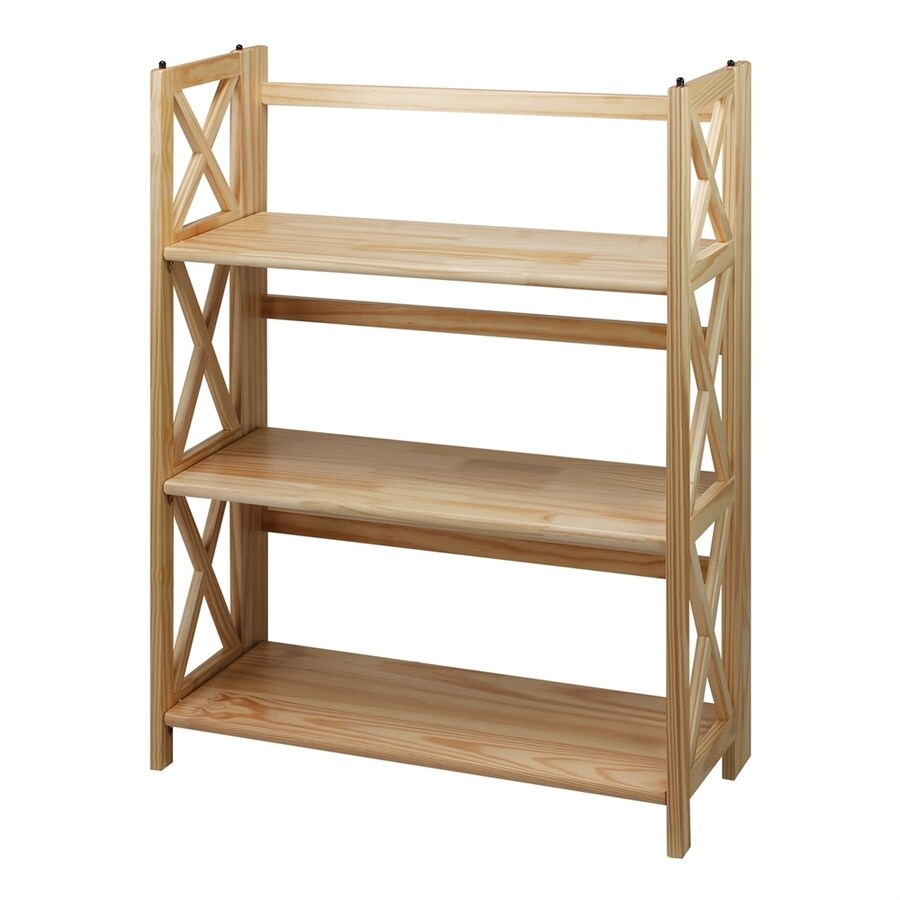 Casual Home Montego Natural Wood 3-Shelf Bookcase