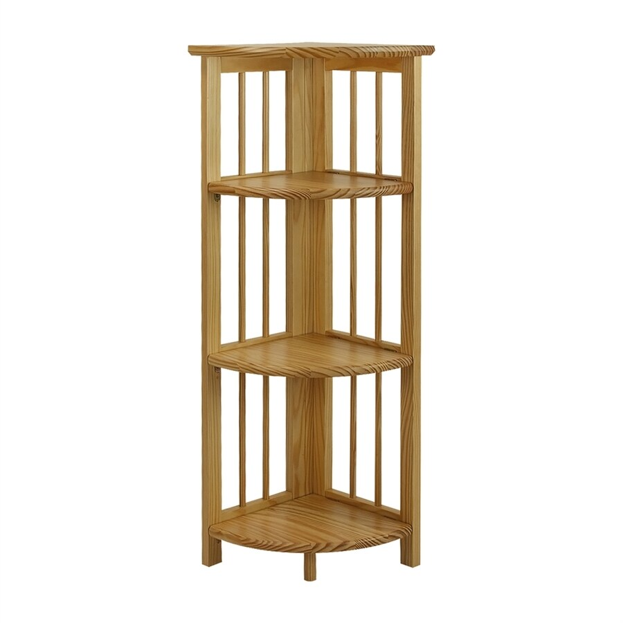 Casual Home Natural Wood 3-Shelf Bookcase