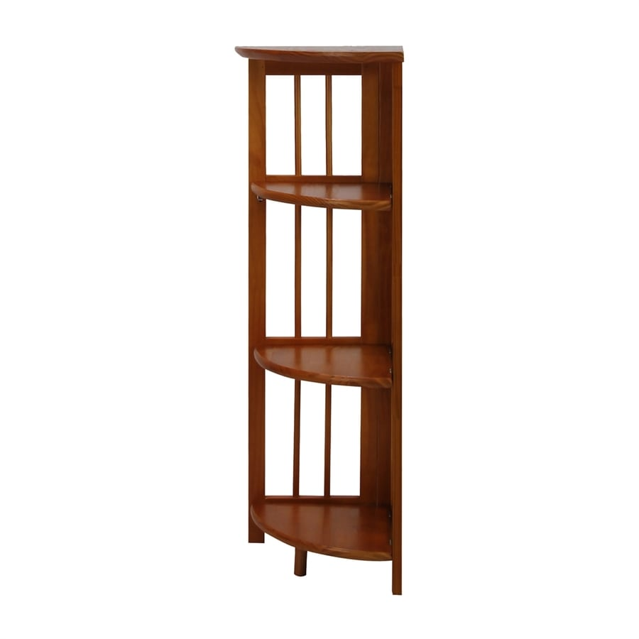 Casual Home Honey Oak Wood 3-Shelf Bookcase