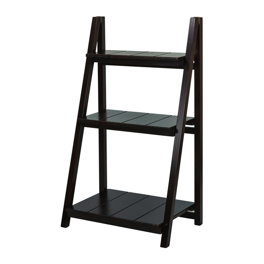 Casual Home Espresso Wood 3-Shelf Bookcase