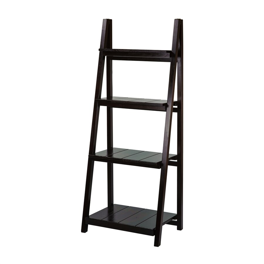Casual Home Espresso Wood 4-Shelf Bookcase