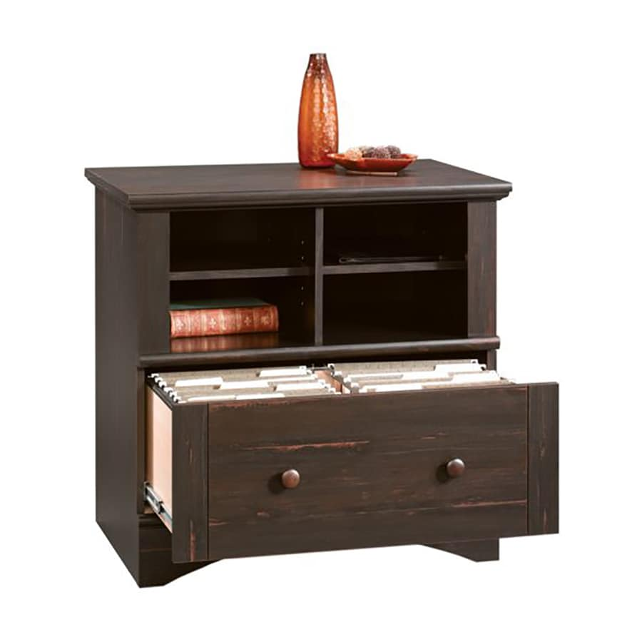 sauder storage cabinet with drawer shop sauder harbor view antiqued paint 1 drawer file 25865