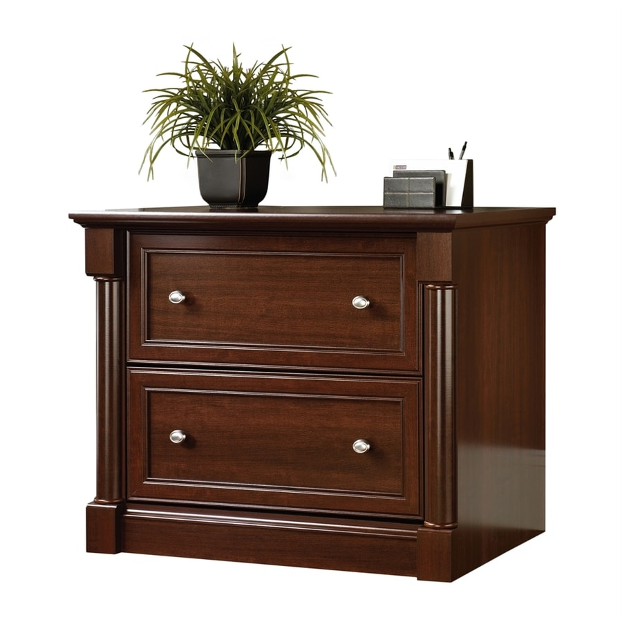 shop sauder palladia cherry 2 drawer file cabinet at. Black Bedroom Furniture Sets. Home Design Ideas