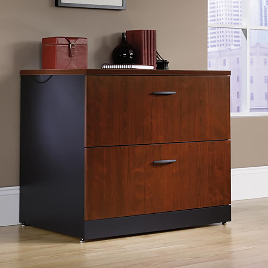 sauder storage cabinet with drawer shop sauder via classic cherry 2 drawer file cabinet at 25865