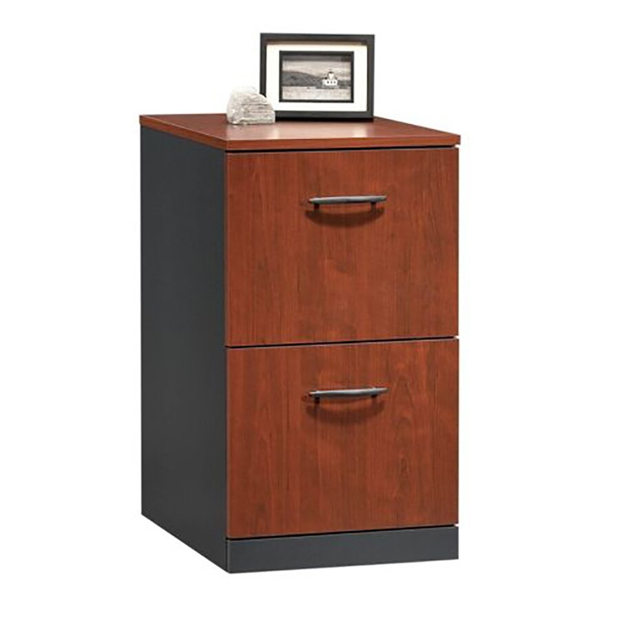 Sauder Via Classic Cherry 2-Drawer File Cabinet