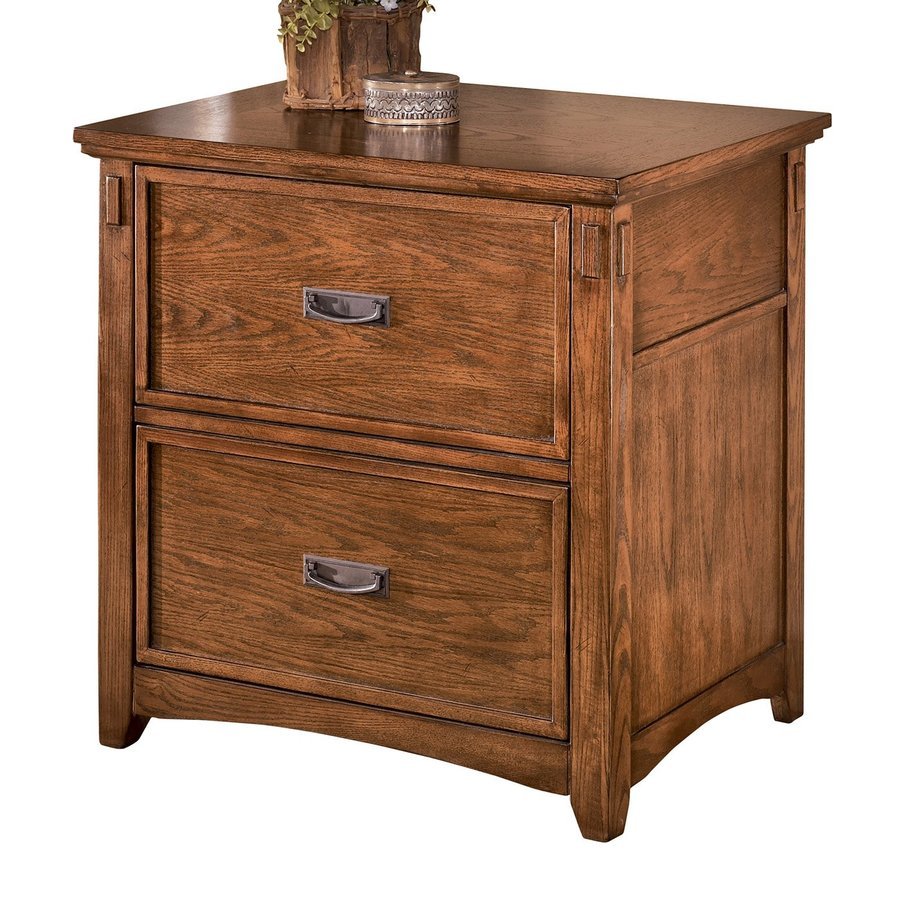 Signature Design By Ashley Cross Island Medium Brown Oak Stain 2