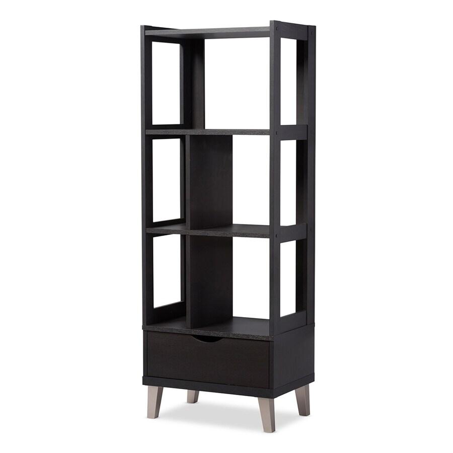 Baxton Studio Kalien Dark Brown 3-Shelf Bookcase