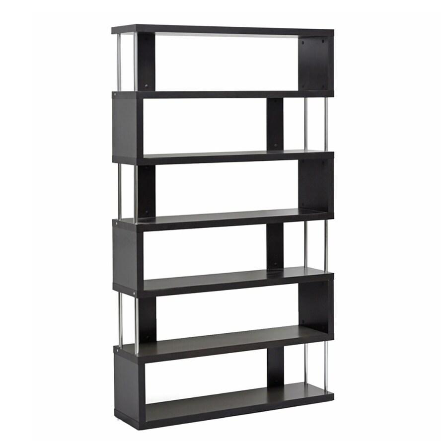 Baxton Studio Dark Brown 6 Shelf Bookcase