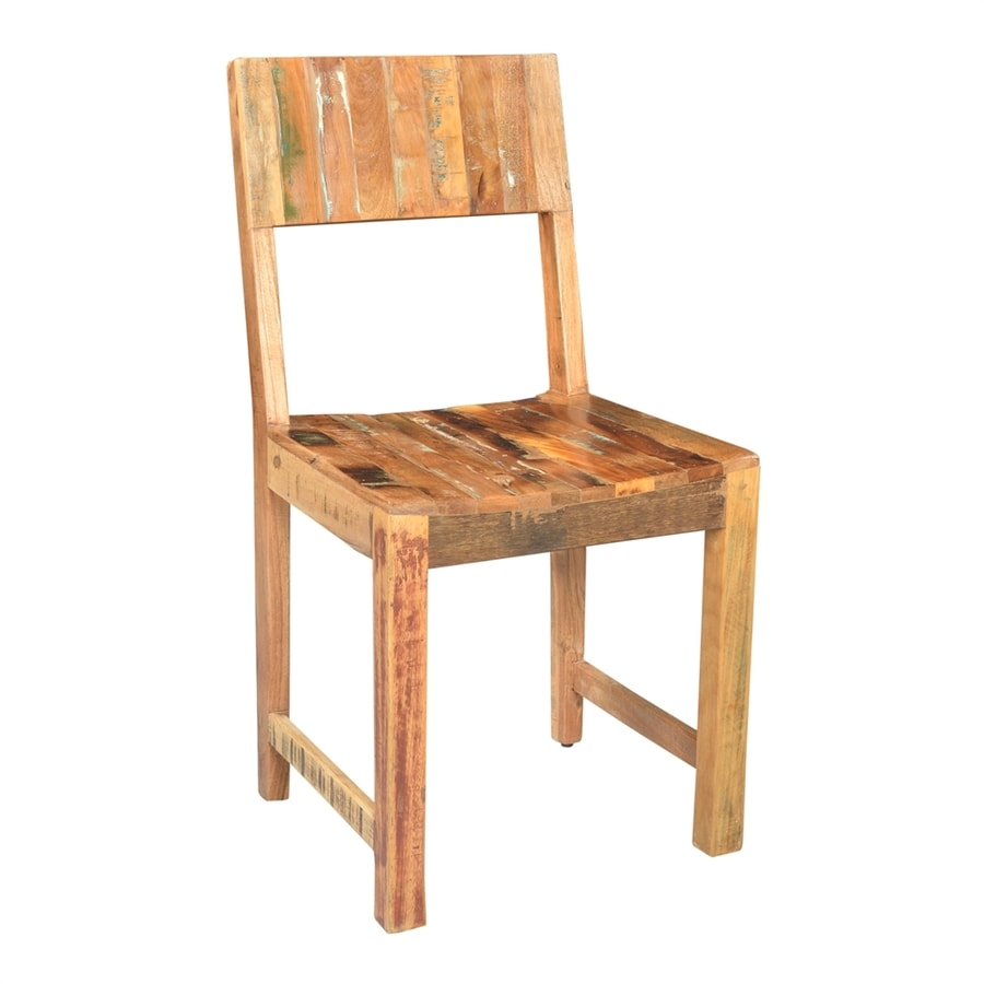 Porter International Designs Brooklyn Reclaimed Wood Side Chair