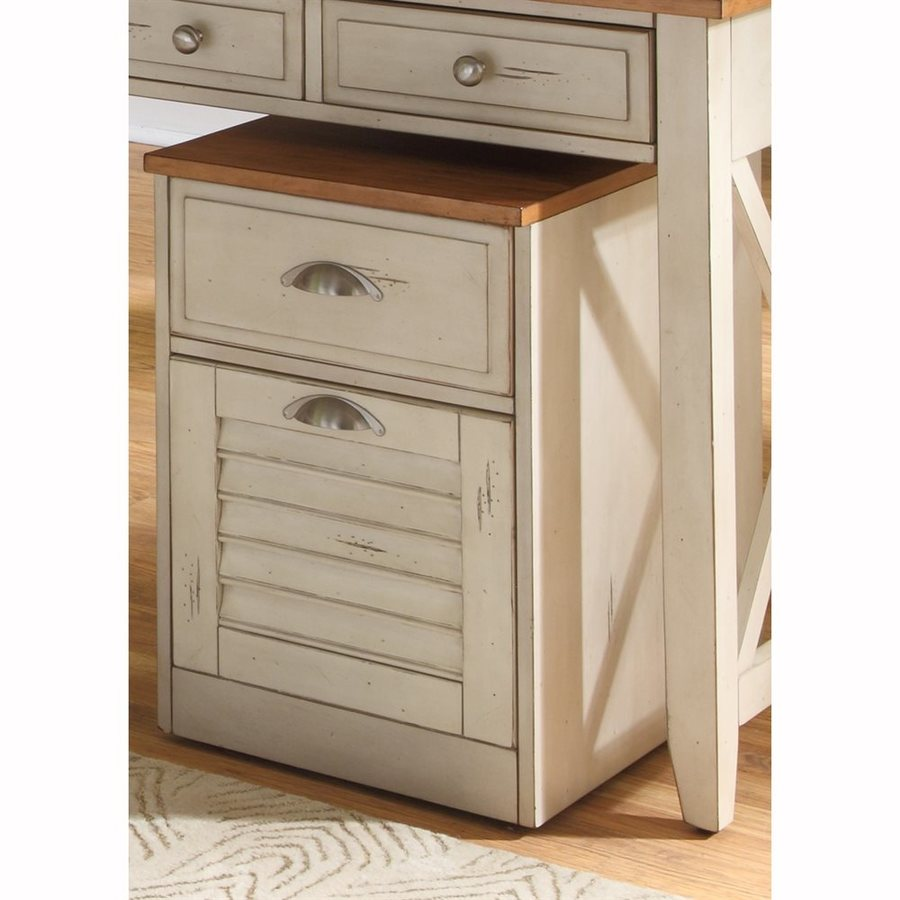Liberty Furniture Ocean Isle Bisque Natural Pine 2 Drawer File Cabinet