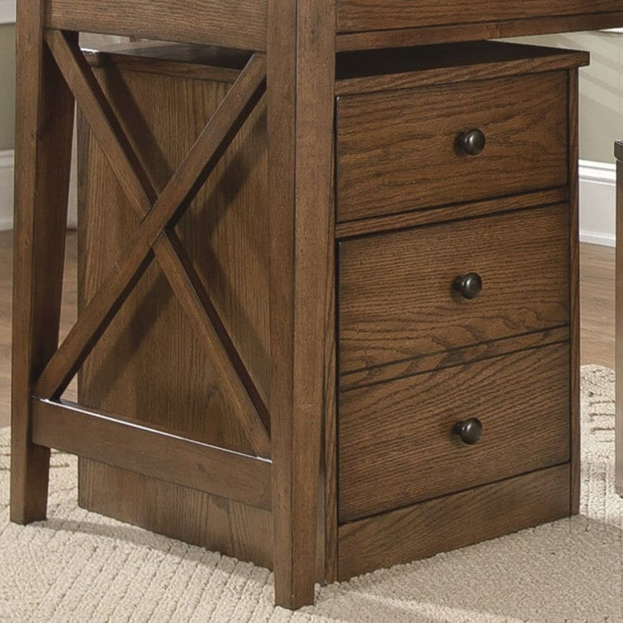 Liberty Furniture Hearthstone Rustic Oak 3 Drawer File Cabinet