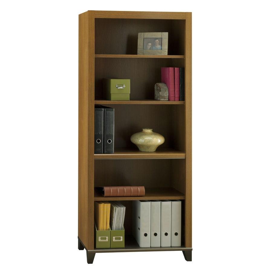 Bush Furniture Achieve Warm Oak 5-Shelf Bookcase