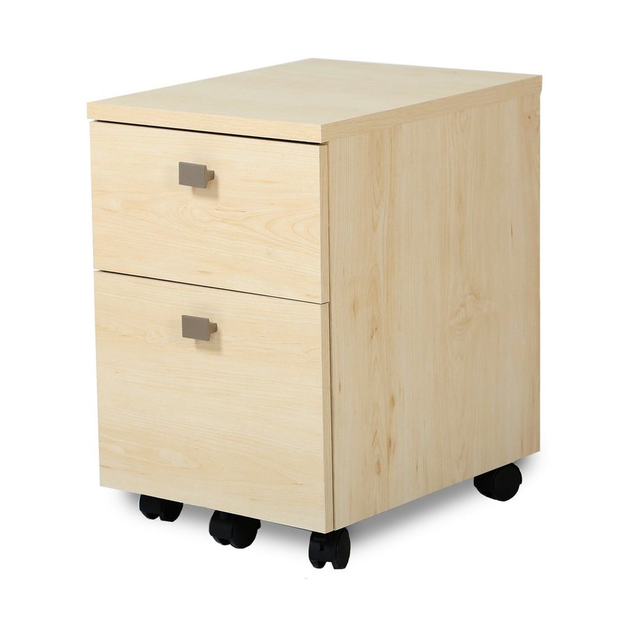 South Shore Furniture Interface Natural Maple 2-Drawer File Cabinet
