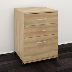 Nexera Essentials Biscotti 3 Drawer File Cabinet