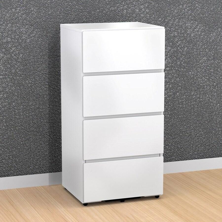 Nexera BLVD White 3-Drawer File Cabinet