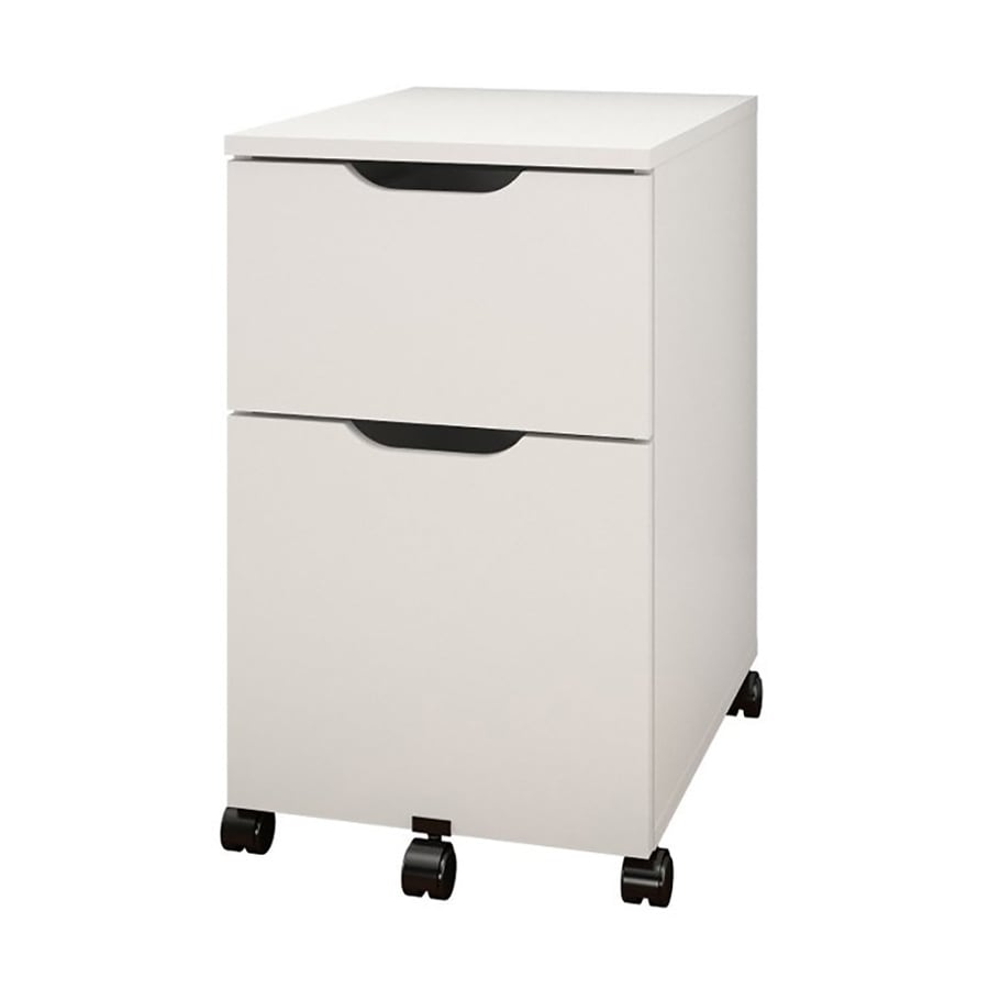 Shop Nexera Arobas White 2 Drawer File Cabinet At Lowes Com