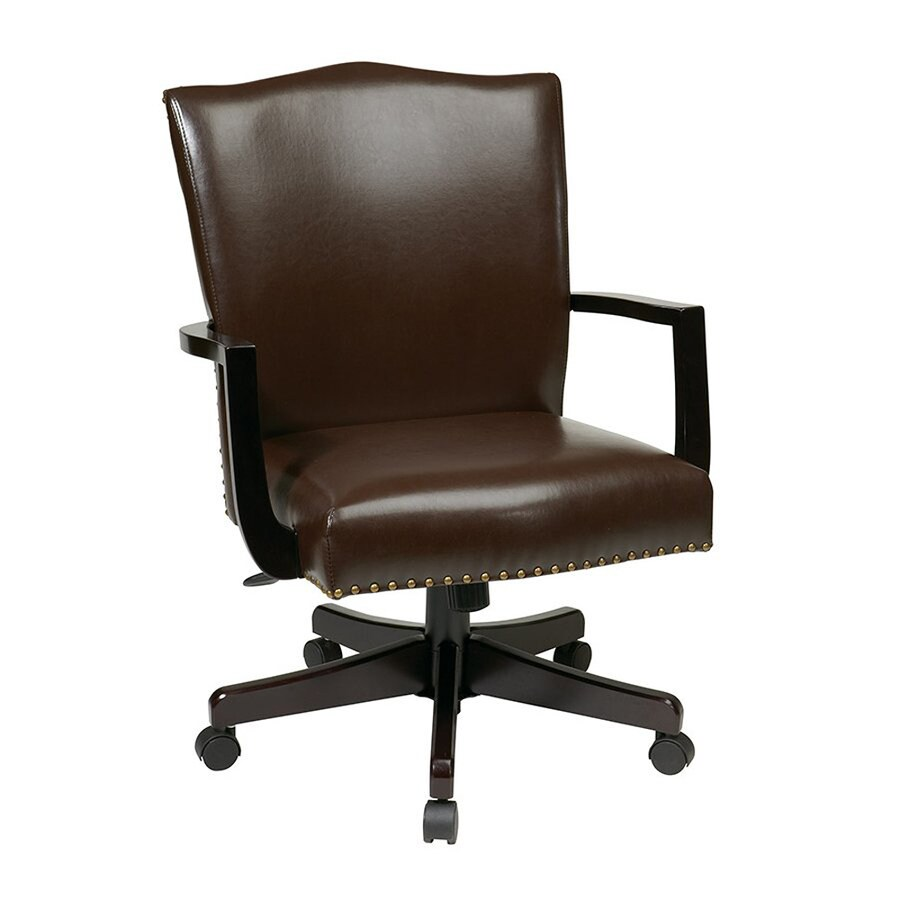 Office Star Inspired By Bassett Espresso Transitional Manager Chair