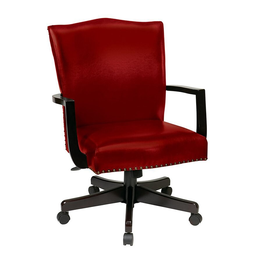 Office Star INSPIRED by Bassett Crimson Red Transitional Manager Chair